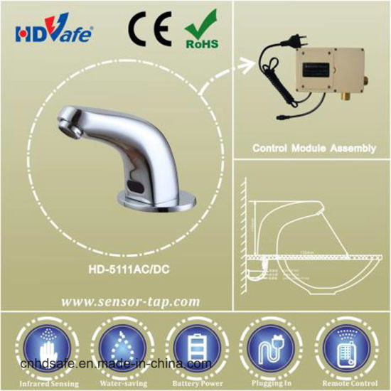 Curve Neck Brass Infrared Sensor Water Tap for Public Restroom pictures & photos