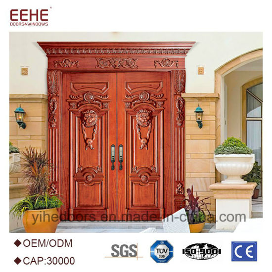 Wood Exterior Doors Teak Wood Double Door Design Wooden Main Door Design