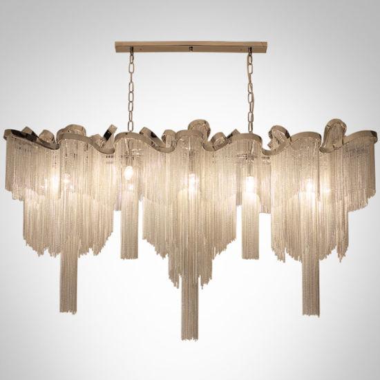 china post modern aluminium chain pendant chandelier light lighting