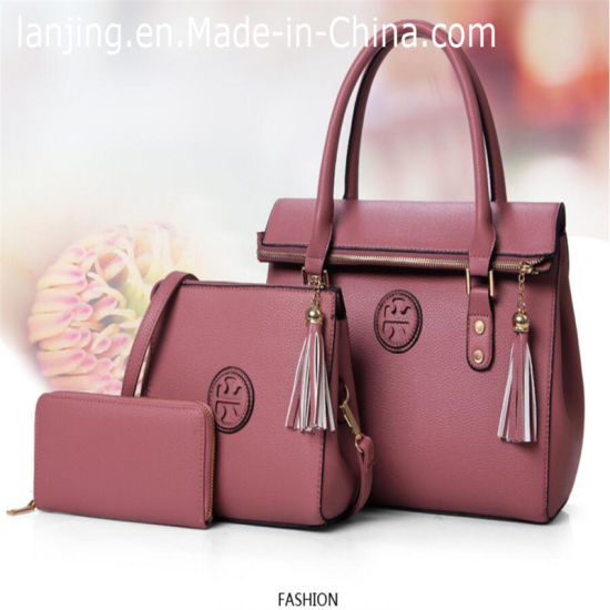 2018 Fashion Designer Lady Pu Leather Tote Las Bag Handbags