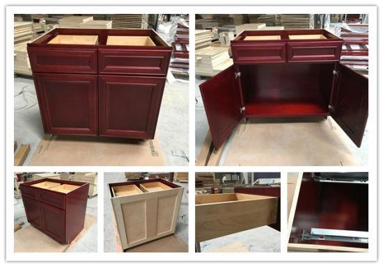 Modern Furniture Modular Kitchen Cabinets Rta Solid Wood Flat Pack