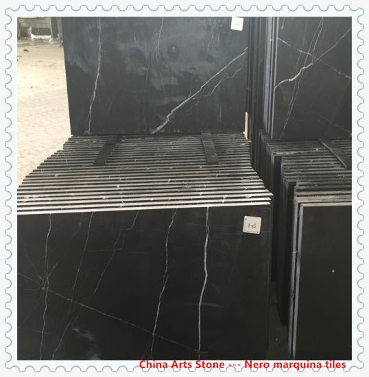 Wholesale Polished/ Honed Chinese Black Marble Slab for Countertop and Tile pictures & photos