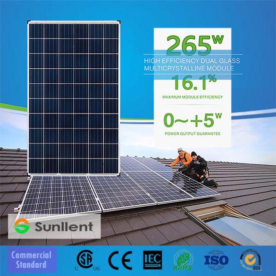 Chinese 265W High Efficiency Polycrystalline Module Solar Panel