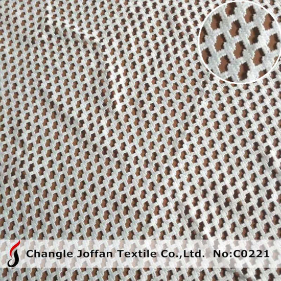 Clothing Polyester Fabric Lace Water Soluble Chemical Lace (C0221)