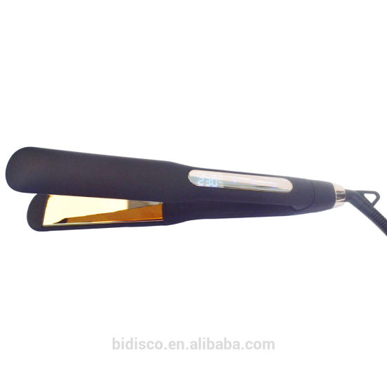 Wide Plate Private Label Custom Logo PRO Nano Titanium 1/4 Inch Flat Iron Made in Korea