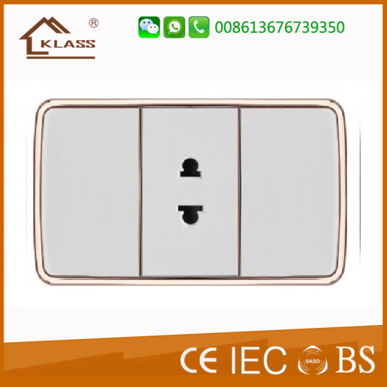 Fashion Design 2gang 2pin Power Extension Wall Socket pictures & photos