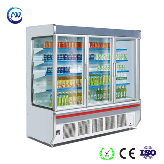 Commercial Vertical Tempered Glass Door Chiller for Supermarket (HG-25M) pictures & photos