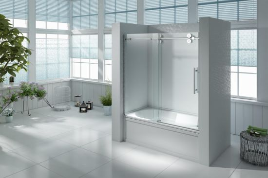 China Bathtub Shower Enclosure with Rolling System - China Shower ...
