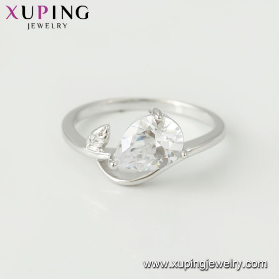 11922 Latest Design Popular Women Simple Silver Jewelry Rings with Double Heart Design pictures & photos