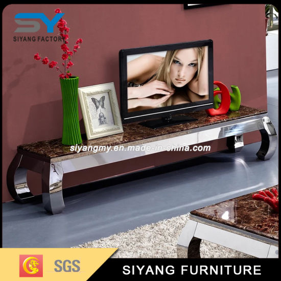 Modern Marble Surface Wooden MDF TV Table pictures & photos