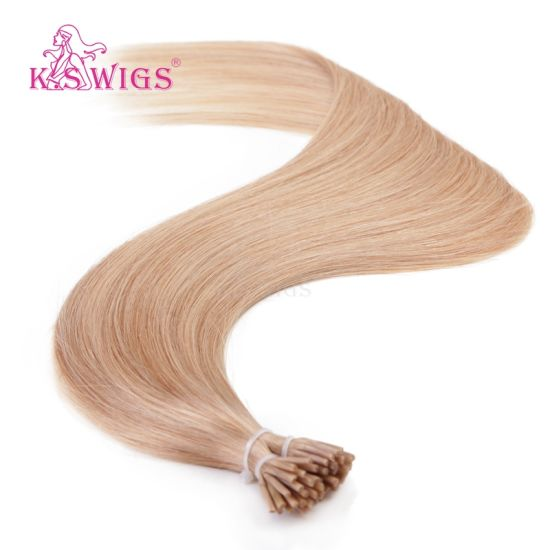 K. S Wigs I Tip Hair  Color #18 Virgin Remy Human Hair Extension pictures & photos