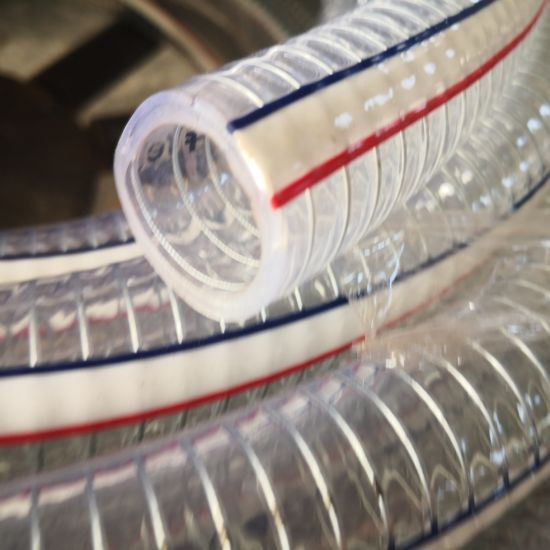 Smooth Surface PVC Spiral Steel 1-1/2 Inch Water Suction Hose