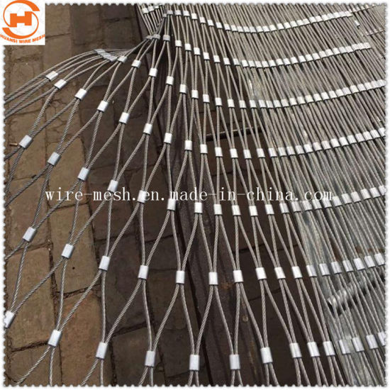 Stainless Steel Rope Mesh Fence for Security Protection