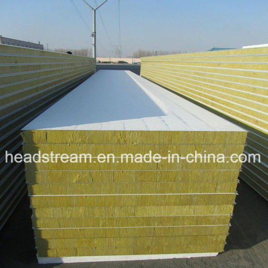 Structural Rockwool Sandwich Panel for Workshop pictures & photos
