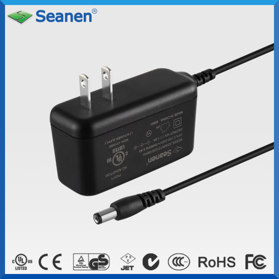 12V 1A UL Approved AC/DC Power Adapter
