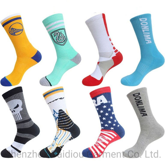 f38117f6840d China Wholesale Unisex Custom Embroidery Logo Men Crew Sport Socks ...