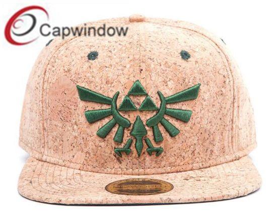 Wood Grain Snapback Hat with Custom Logos on Sport Cap