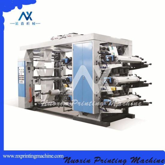 Stack Type 6 Color Roll Paper Flexo Printing Machine