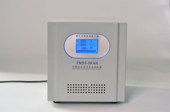 Single Phase LCD Display Svs-5000va Servo Motor Voltage Stabilizer