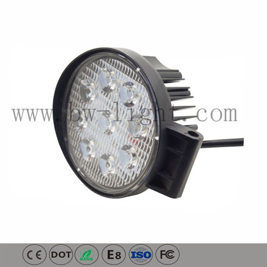 Round High Intensity 27W LED Work Lights (GY-009Z03A)