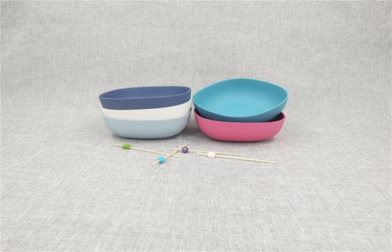 Bamboo Fiber Square Bowl with Eco-Friendly Materials.