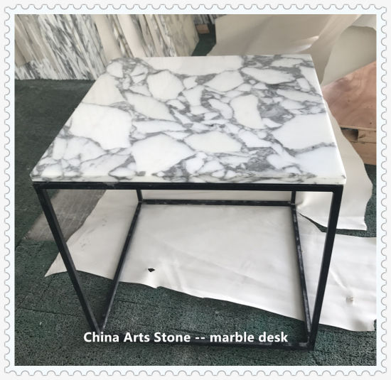 Nature Marble Flower Countertop with Steel Frame for Villa Decoration