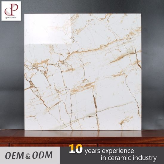 China Ceramic Tile Low Price Marble White Glossy Glazed Kerala