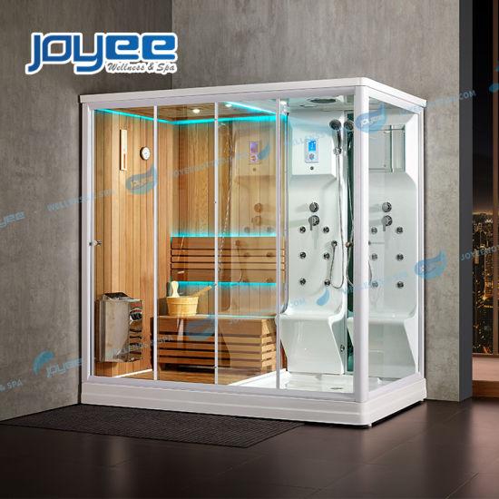 Double Zone 2 People Luxury Wet Steam Sauna Shower Combo Bath Steam Shower Room