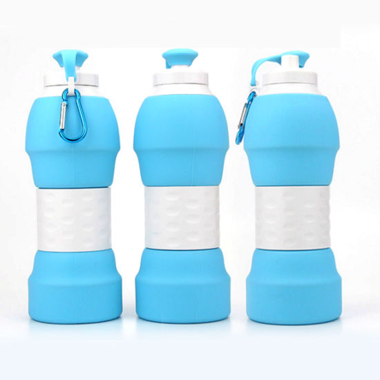 580ml Silica Gel Bottle Collapsible Reusable Water Bottles pictures & photos