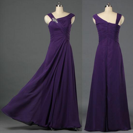 7ca17c7ca7f One Shoulder Cap Sleeves Asymmetric Long Chiffon Purple Grape Evening Party Prom  Dresses for Women