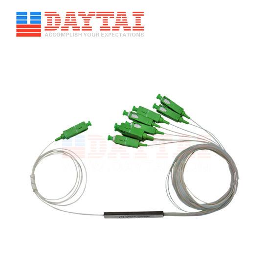 0.9mm Single Mode Mini PLC Optic Fiber PLC Splitter 1X8