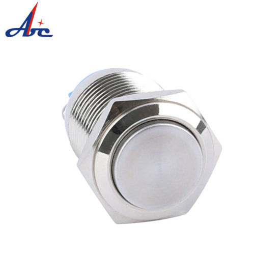 16mm High Round Screw Terminal Latching Short on off Push Button Switch