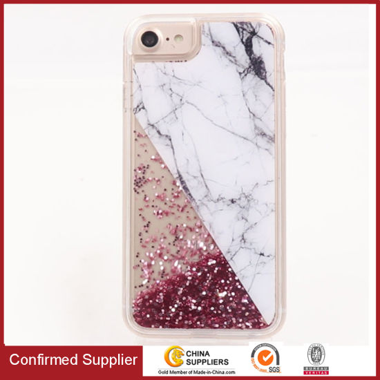 Liquid Glitter Phone Case Transparent Quicksand Mobile Case for iPhone