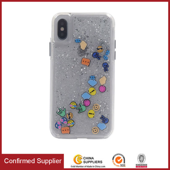 Transparent Flowing Liquid Phone Case Luxury Anti-Shock Glitter Phone Case