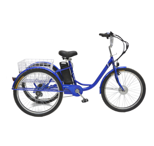 Wholesale 36V 350W Adult Large Electric Tricycle for Shopping