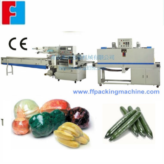 Fruit Orange Apple Cucumber Shrink Wrapping Machine with Fast Speed