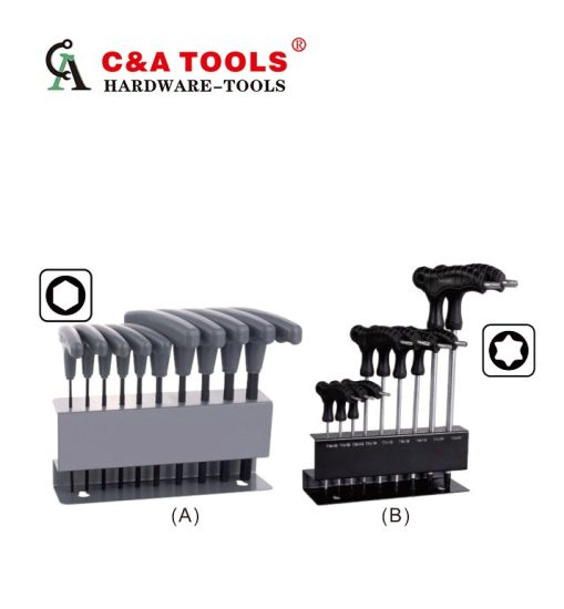 T-Handle Hex/Torx Key Wrench Set pictures & photos