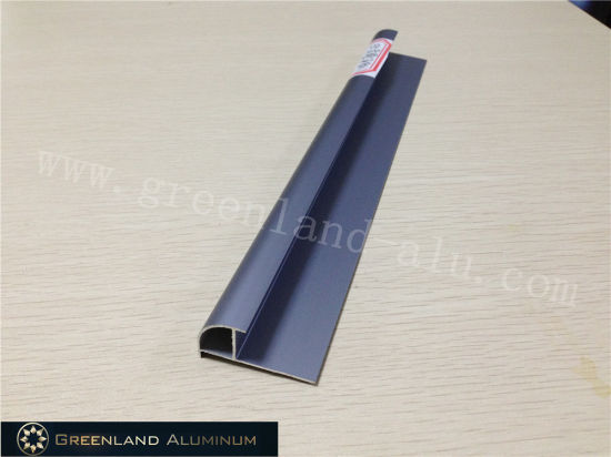Aluminium Radius Tile Trim in Anodised Matt Sapphire-Blued Color pictures & photos