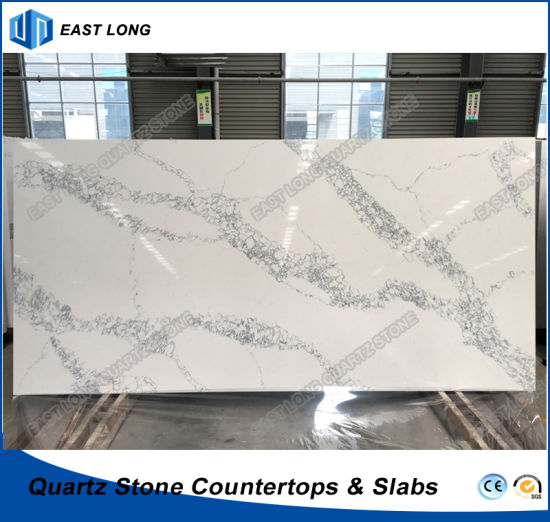 Polished Quartz Stone for Solid Surface/ Building Material with SGS Certificiate (Marble colors)