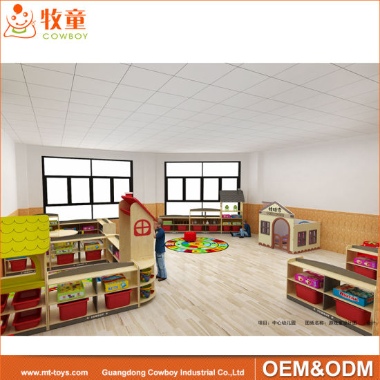 Whole Design Daycare Center Wood Kindergarten Children Nursery School  Furniture