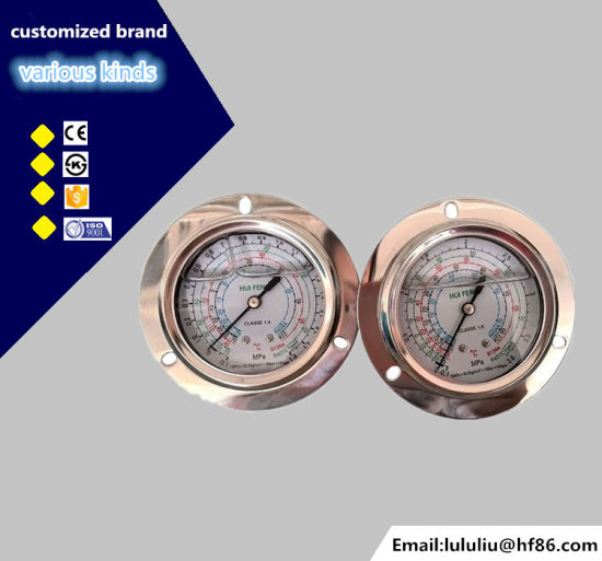 Stainless Steel R410A Manifold Refrigeration Pressure Gauge pictures & photos