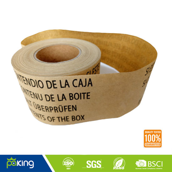 Wet Water Fiber Kraft Paper Tape pictures & photos