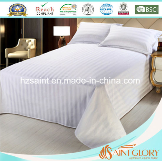 Luxury Hotel Pure Cotton Fabric Stripe Style Bedding Sheet Sets pictures & photos