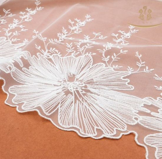 OEM/ODM Service Color Customized Cotton Mesh Voile Macrame Lace for Clothing Lace pictures & photos