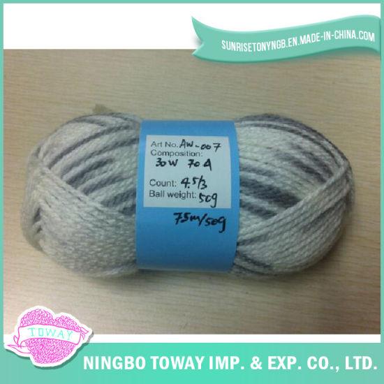 Acrylic High Strength Craft Cotton Wool Knitting Yarn