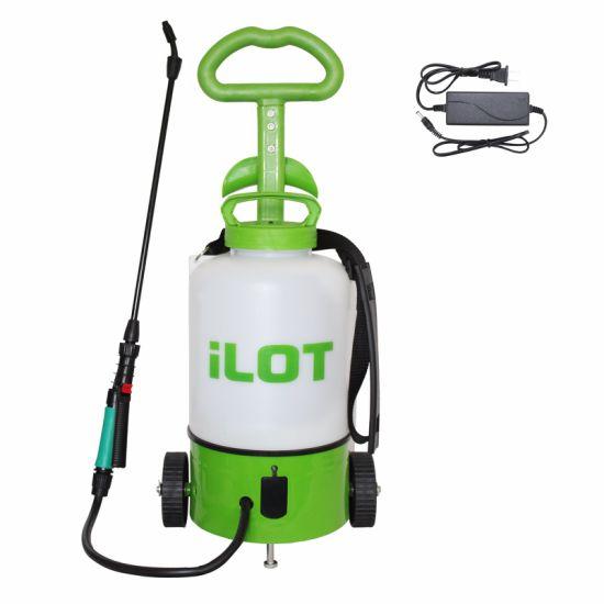 China Ilot 8L Plastic Wheel Rechargeable Electric Garden Sprayer ...