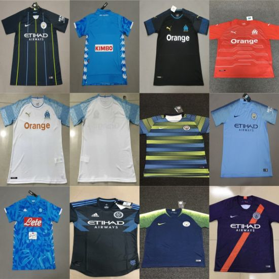 Manchester C-I-T-Y Marseille Naples Home Away Third Football Soccer Jerseys