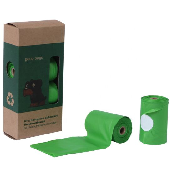 Eco-Friendly 100% Biodegradable PLA Dog Pet Waste Poop Bags