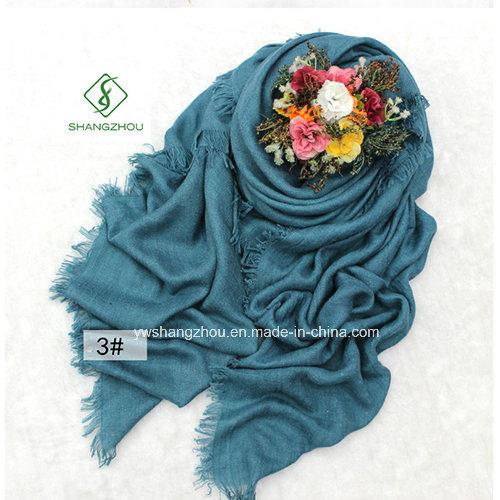 Large Size Shawl Herringbone Plain Cotton Lady Fashion Scarf