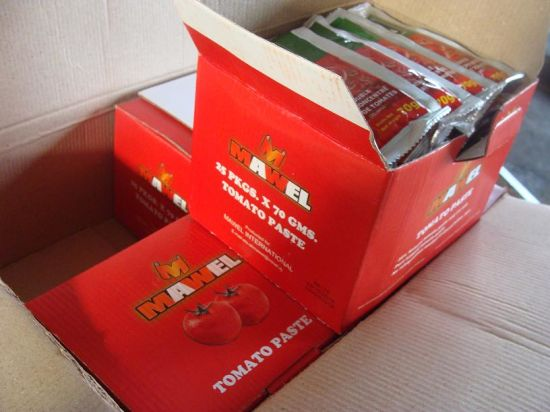 Tomato Paste in Satchet Packing.